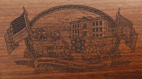 benton county washington engraved rifle buttstock