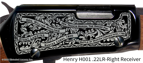 Berkeley County South Carolina Engraved Rifle