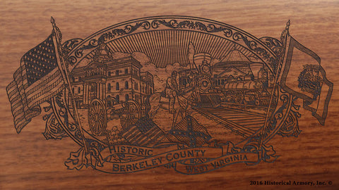 berkeley county west virginia engraved rifle buttstock