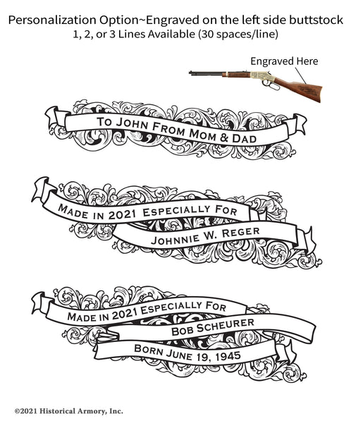 Amherst County Virginia Engraved Rifle Personalization