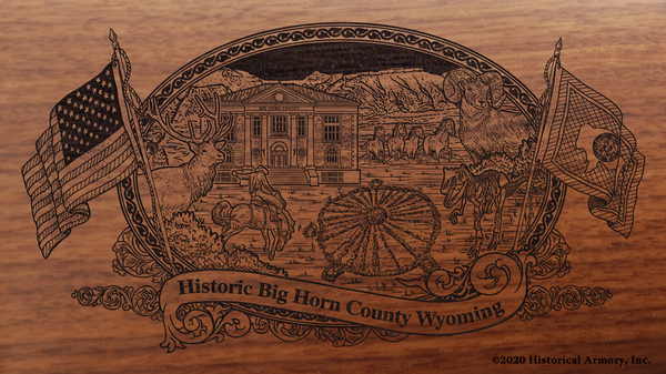 Big Horn County Wyoming Engraved Rifle