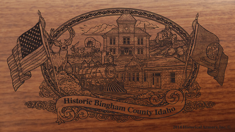 Bingham County Idaho Engraved Rifle