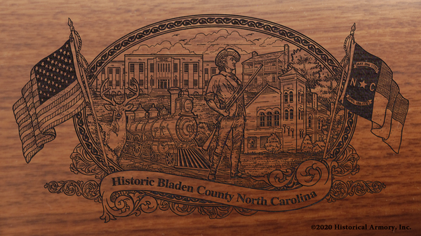 Bladen County North Carolina Engraved Rifle