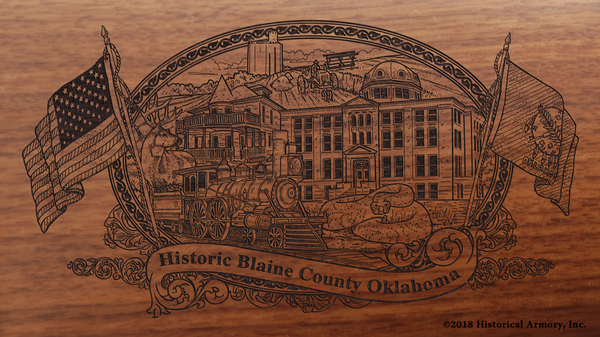 Blaine County Oklahoma Engraved Rifle