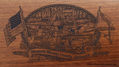 Blount County Alabama Engraved Rifle