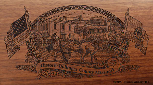 Bollinger County Missouri Engraved Rifle
