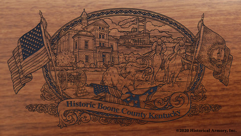 Boone County Kentucky Engraved Rifle Buttstock