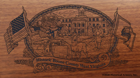Boone County West Virginia Engraved Rifle Buttstock