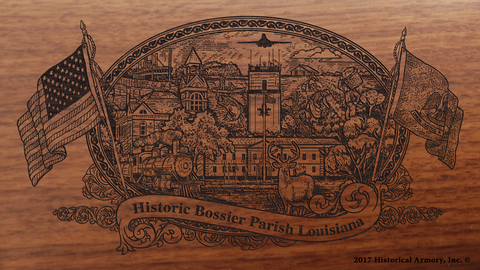 Bossier Parish Louisiana Engraved Rifle
