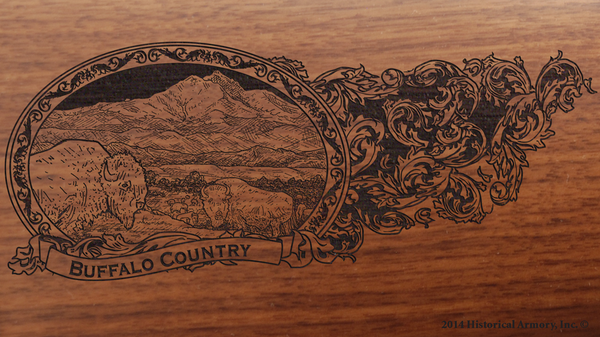 Boulder County Colorado Engraved Rifle