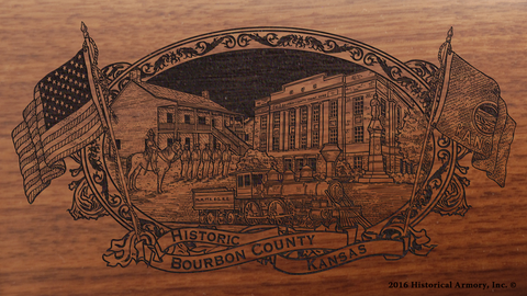 Bourbon County Kansas Engraved Rifle