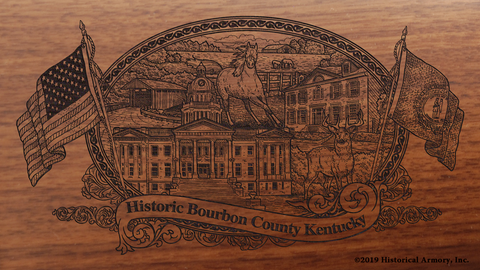 Bourbon County Kentucky Engraved Rifle
