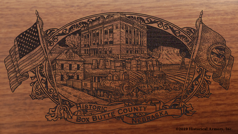 Box Butte County Nebraska Engraved Rifle