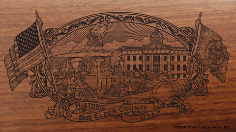 Box Elder County Utah Engraved Rifle