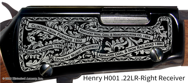 Boyd County Kentucky Engraved Rifle