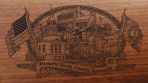 Boyle County Kentucky Engraved Rifle