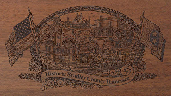 bradley county tennessee engraved rifle buttstock
