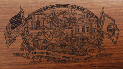 Braxton County West Virginia Engraved Rifle