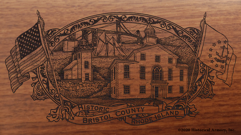 Bristol County Rhode Island Engraved Rifle