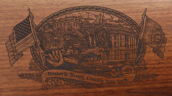 bronx county new york engraved rifle buttstock