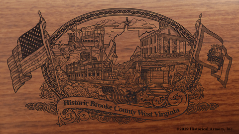 Brooke County West Virginia Engraved Rifle