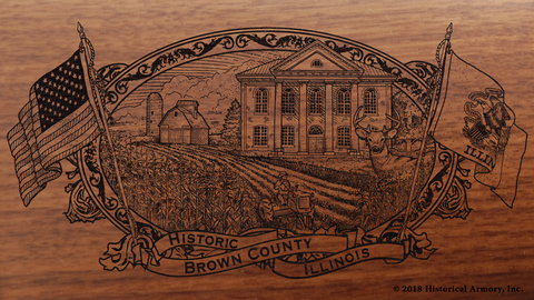 Brown County Illinois Engraved Rifle