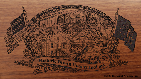 Brown County Indiana Engraved Rifle