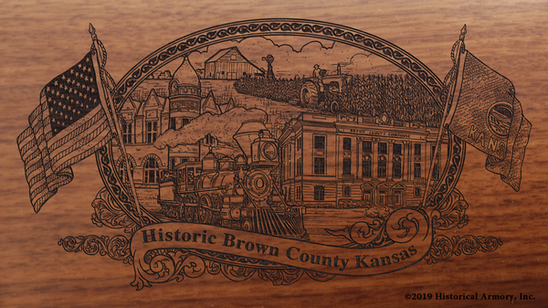 Brown County Kansas Engraved Rifle