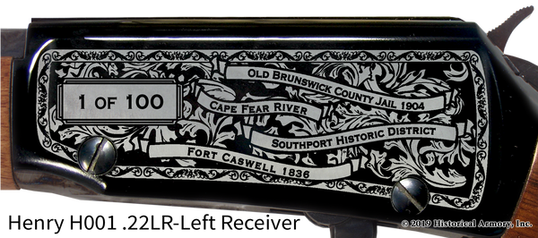 Brunswick County North Carolina Engraved Rifle