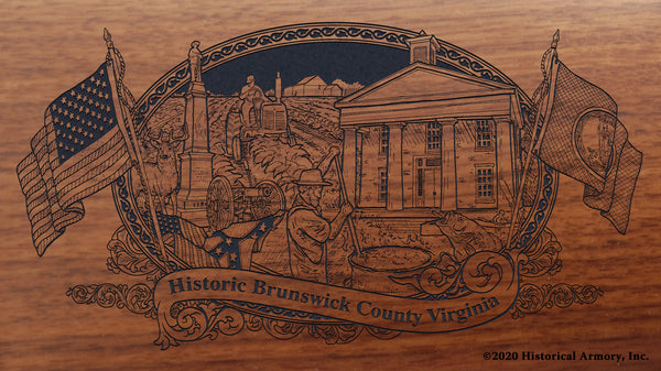 Brunswick County Virginia Engraved Rifle Buttstock