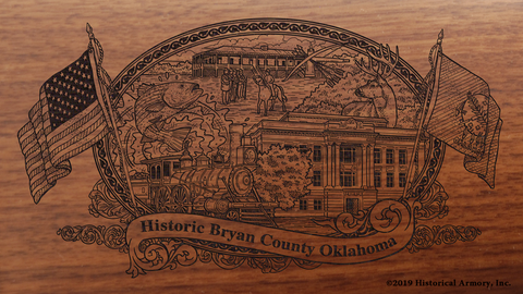 Bryan County Oklahoma Engraved Rifle