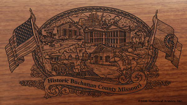 Buchanan County Missouri Engraved Rifle
