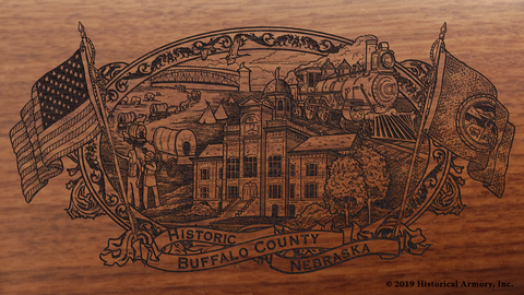 Buffalo County Nebraska Engraved Rifle