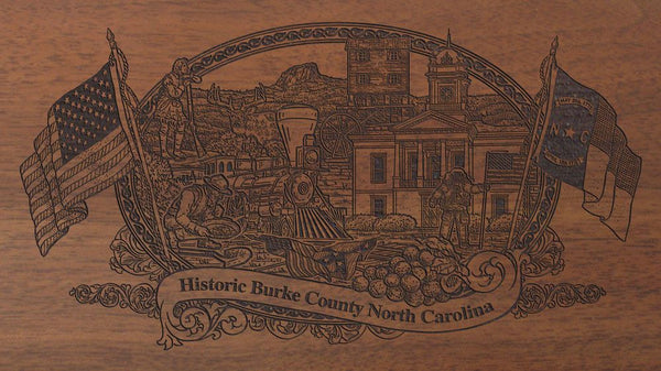 burke county north carolina engraved rifle buttstock