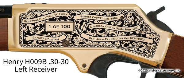 Burnet County Texas Engraved Rifle