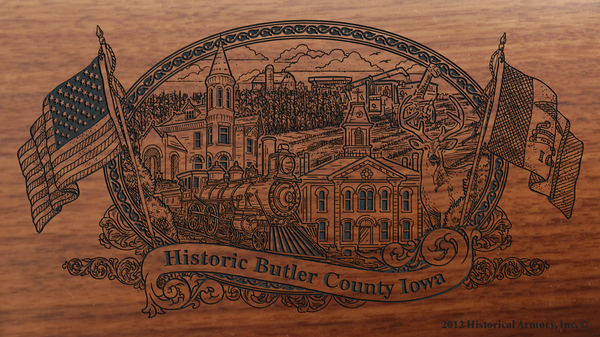 Butler County Iowa Engraved Rifle