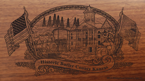 Butler County Kansas Engraved Rifle
