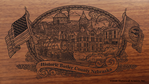 Butler County Nebraska Engraved Rifle