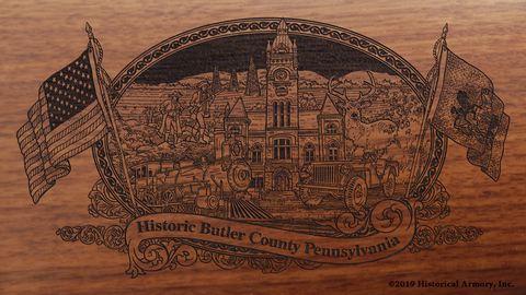 Butler County Pennsylvania Engraved Rifle