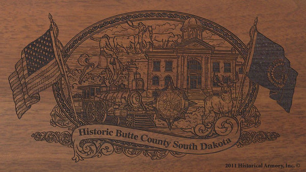 butte county south dakota engraved rifle buttstock