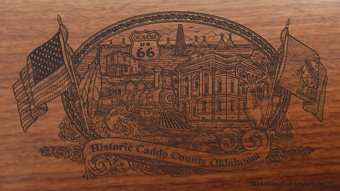 Caddo County Oklahoma Engraved Rifle