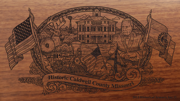 Caldwell County Missouri Engraved Rifle
