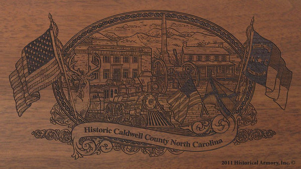 caldwell county north carolina engraved rifle buttstock