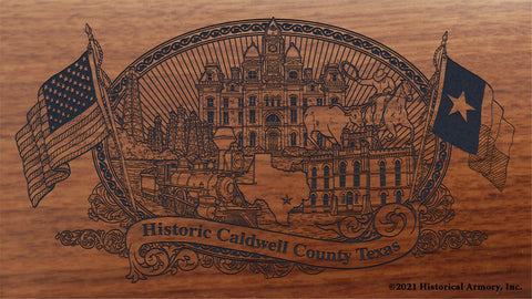 caldwell county texas engraved rifle buttstock