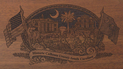calhoun county south carolina engraved rifle buttstock