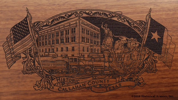 Callahan County Texas Engraved Rifle
