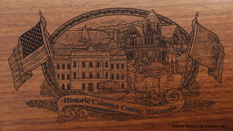 Calumet County Wisconsin Engraved Rifle
