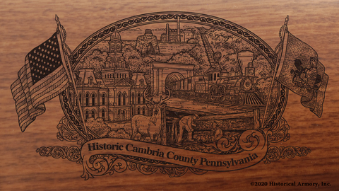 Cambria County Pennsylvania Engraved Rifle