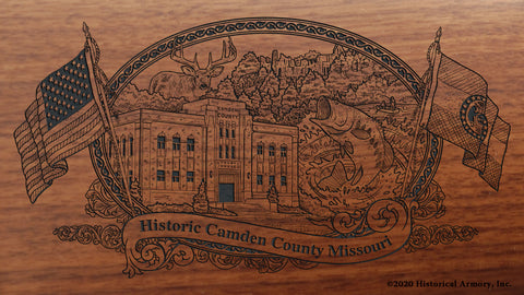 Camden County Missouri Engraved Rifle