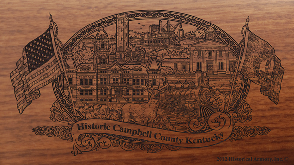 Campbell County Kentucky Engraved Rifle